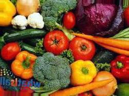Овощи богатые клетчаткой таблица