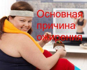 главные причины ожирения